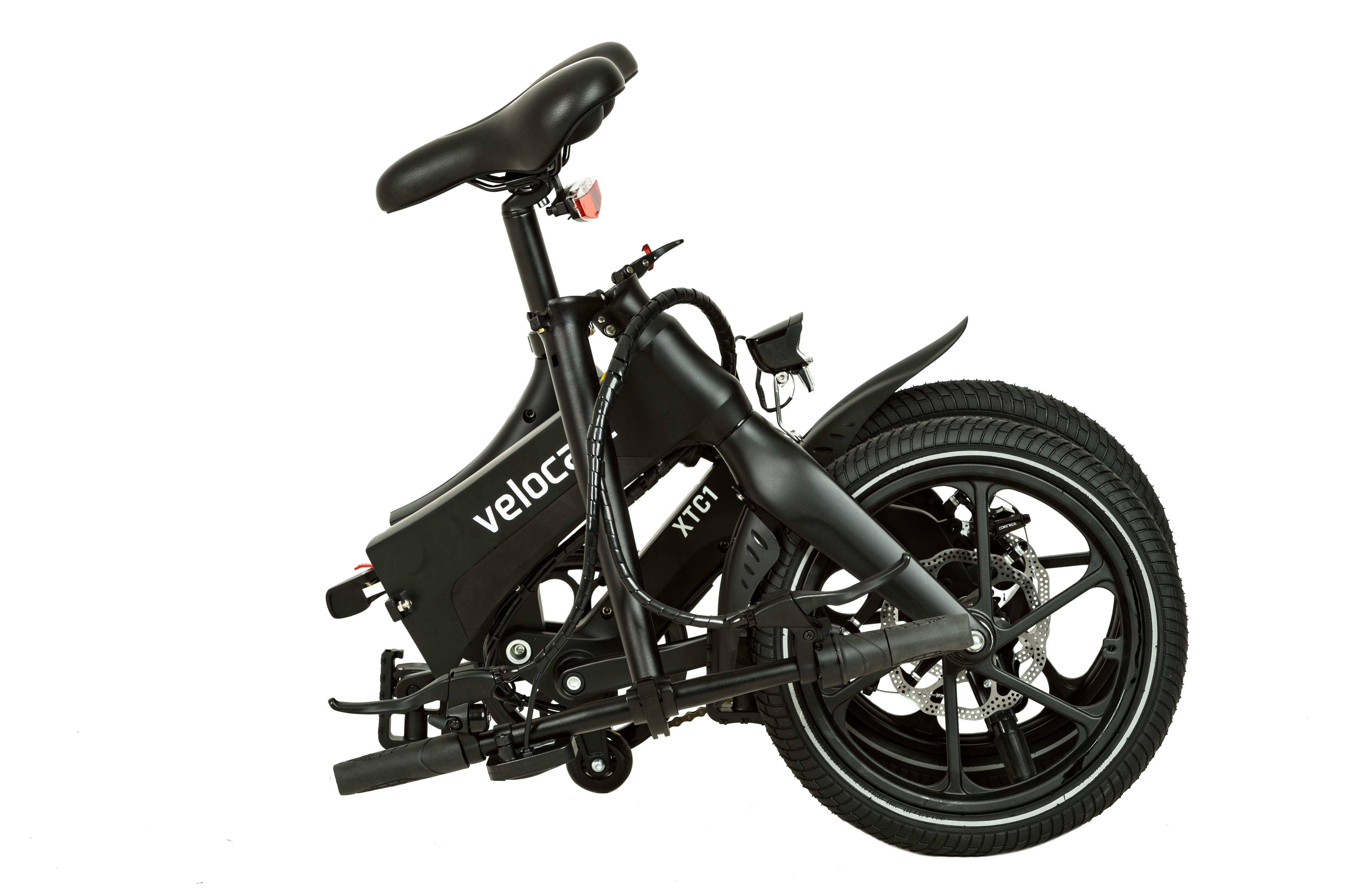 faltbares e bike velocate xtc1 schwarz e bikes xtasy