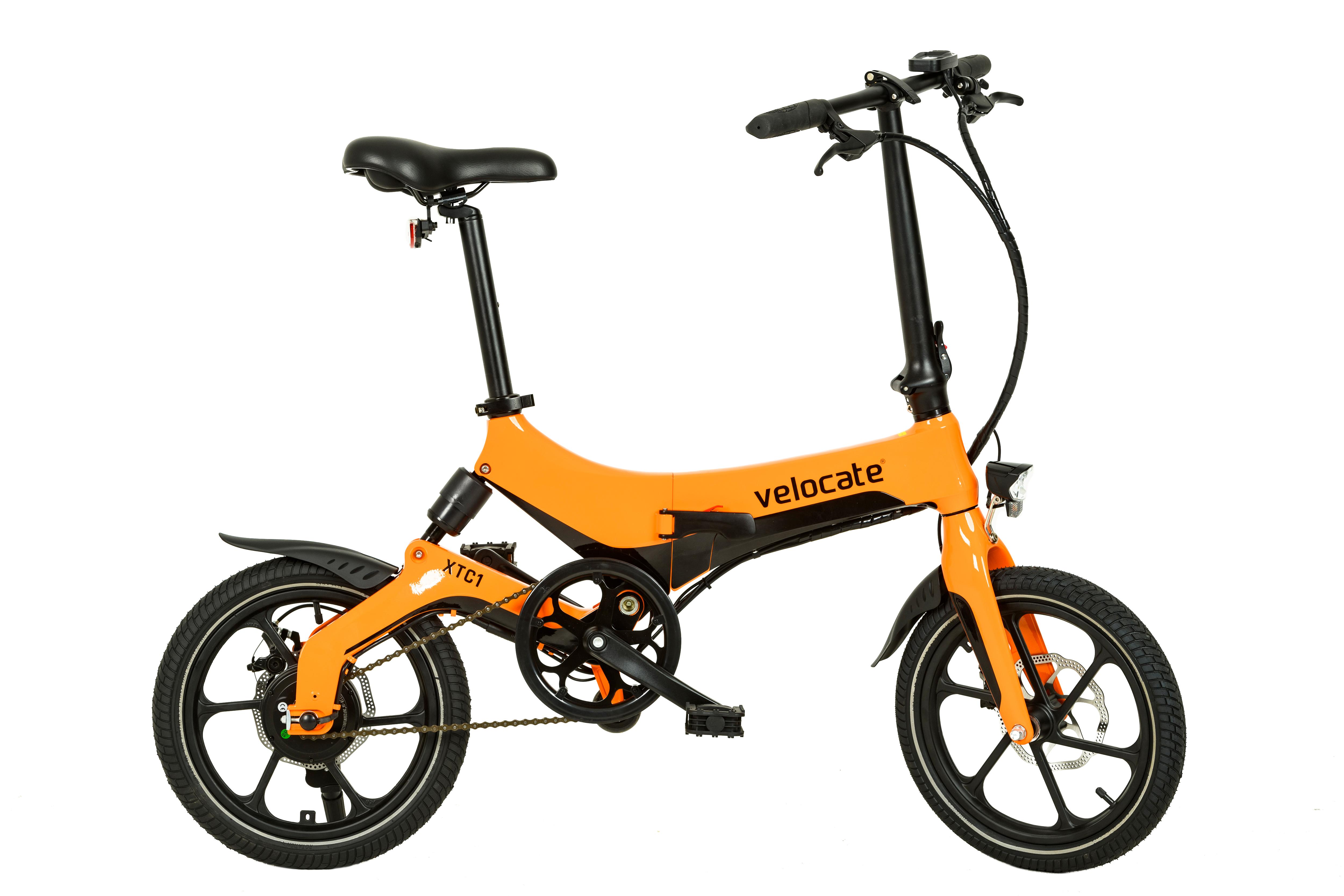 faltbares e bike velocate xtc1 orange e mobilit t. Black Bedroom Furniture Sets. Home Design Ideas