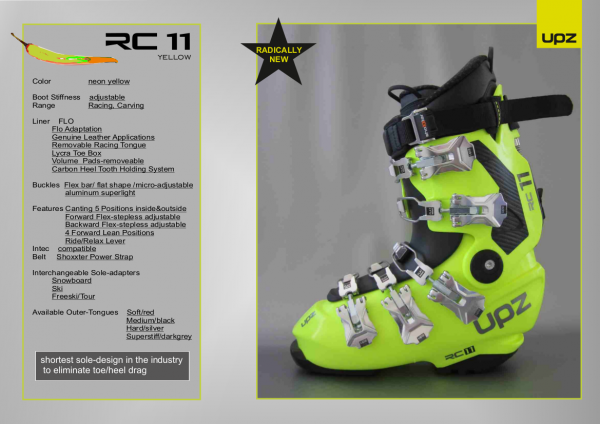Alpin- / Hardboot UPZ RC 11 yellow